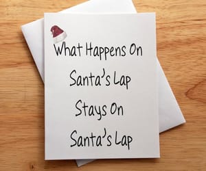 christmas card, etsy, and santa image