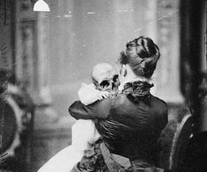 black and white, creepy, and death image
