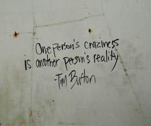 quotes, tim burton, and reality image