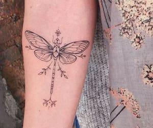 tattoo, dragon-fly, and libelula image