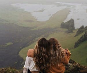 girl, travel, and friends image