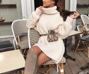 dress, fashion, and handbag image