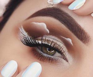 makeup, eye, and girl image