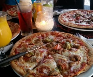 food, italian, and pizza image