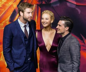 Jennifer Lawrence, liam hemsworth, and the hunger games image