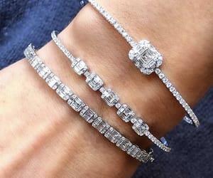 bracelet, diamond, and jewelry image