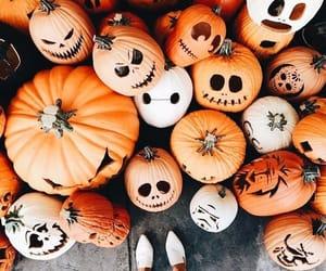 pumpkin, fall, and Halloween image