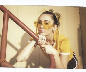 miley cyrus, yellow, and converse image