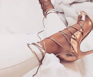 heels, outfit, and fashion image