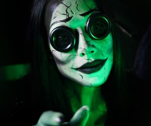 coraline, green, and Halloween image