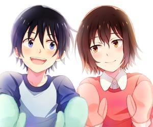 anime, girl, and guy image