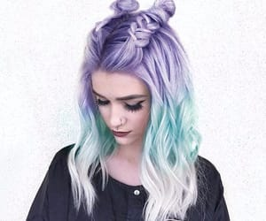 cheveux, violet, and coiffure image