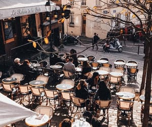 brown, paris, and coffee image