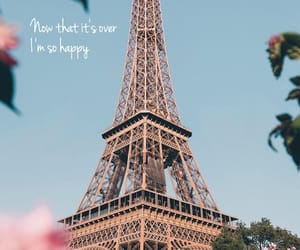 flowers, paris, and quote image