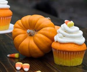 pumpkin, autumn, and cupcake image