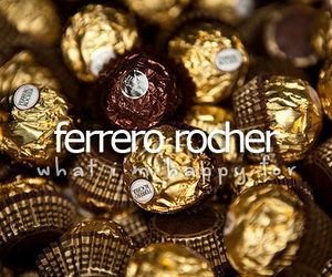 chocolate, ferrero rocher, and what i'm happy for image