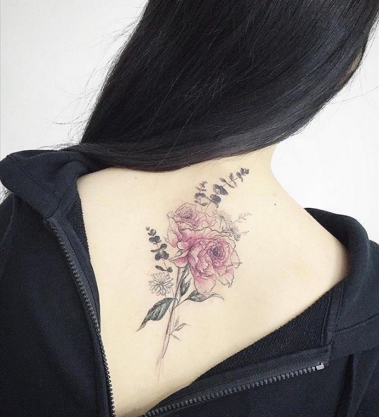 art, back, and back tattoo image