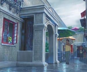 anime, movie, and rain image