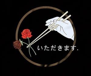 black, rose, and background image