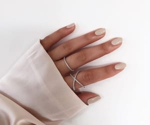nails, jewelry, and hand image