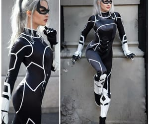 catwoman, cosplay, and spiderman image
