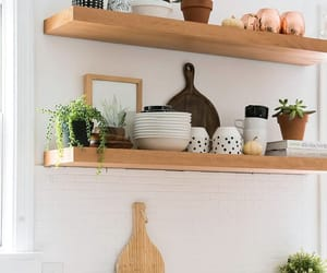 mid-century modern, farmhouse kitchen, and bohemian kitchen image