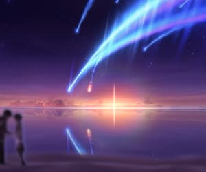 anime, light, and stars image