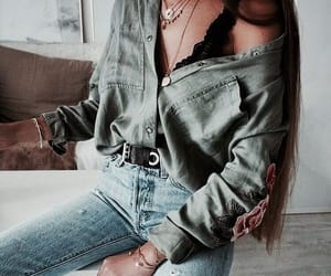 cool, green, and jeans image
