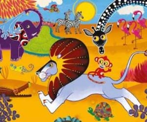 animals, folklore, and lion image