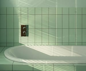bathtub, green, and mint image