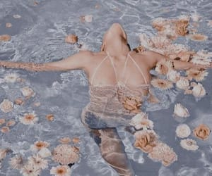 flowers, aesthetic, and pool image