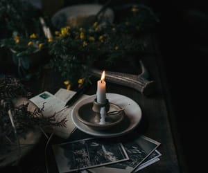 candle, witch, and dark image