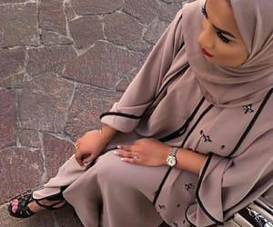 abaya, hijab, and cute image