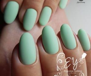 design, green nails, and matt image