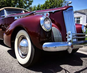 40s, burgundy, and cars image