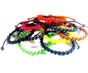 etsy, macrame anklet, and waterproof jewelry image