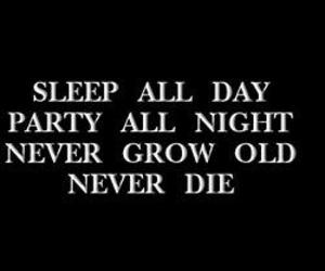 party, quotes, and sleep image