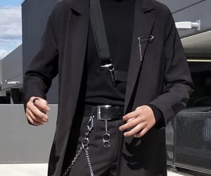 aesthetic, black, and chain image