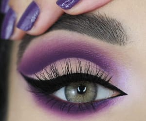 nails, eyes, and girl image