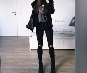 fashion, black, and look image