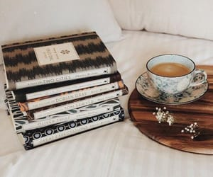 bedroom, books, and coffee image