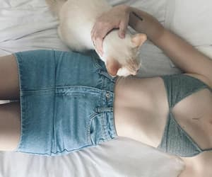 cat, girl, and body image