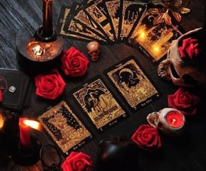 tarot, candles, and cards image
