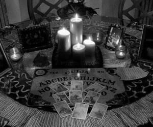 candle, black and white, and dark image