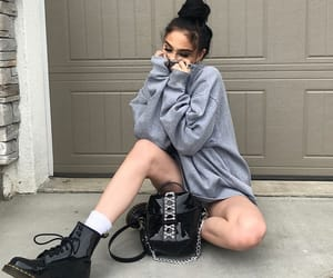 combat boots, gray, and model image