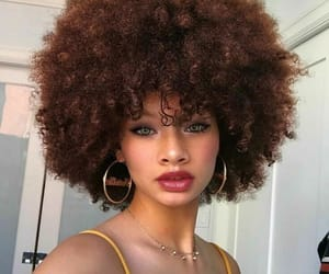 Afro, makeup, and pretty image