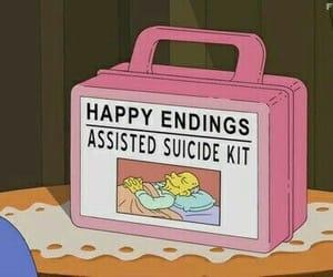 cartoon, sad, and mood image