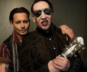 johnny depp, Marilyn Manson, and MM image
