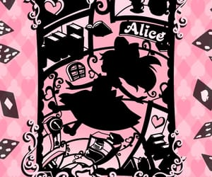 alice, pink, and rose image