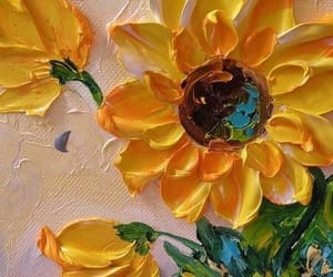 art, flowers, and yellow image